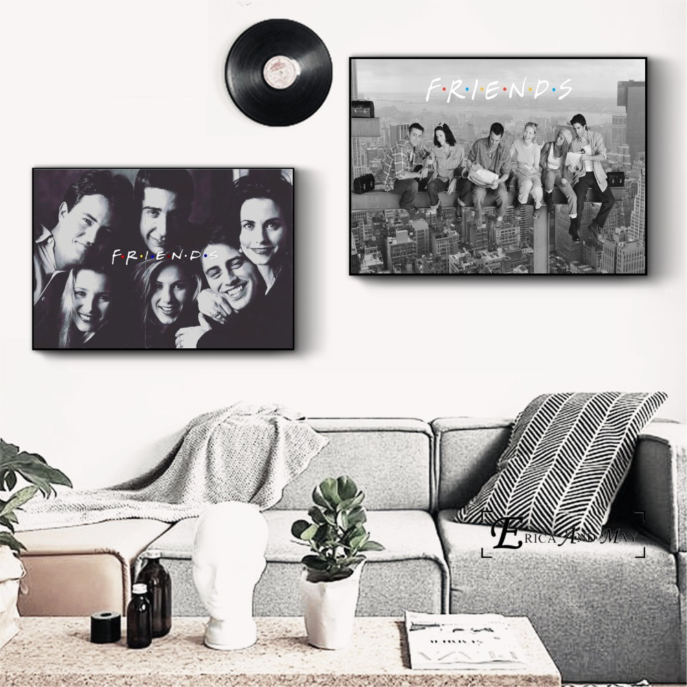Friends TV Series Movie Art Canvas Art Print Painting Modern Wall Picture Home Decor Bedroom Decorative Posters No Frame Cuadros