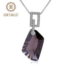 GEMS الباليه 925 فضة غرامة مجوهرات الطبيعية سموكي كوارتز الأحجار الكريمة قلادة قلادة للنساء هدية الزفاف