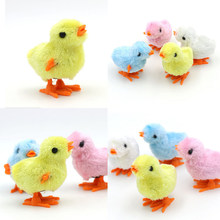 Cute Lovely Cartoon Clockwork Chick Toy Plush Walking Toys New Brand Four Colors(China)