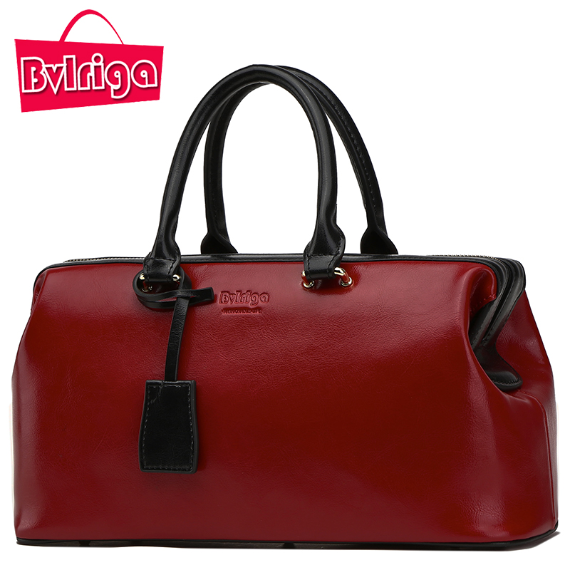 BVLRIGA Ladies' Genuine Leather Handbag Luxury Handbags Women Bags Designer Bags Handbags Women Leather Handbags Women Bag