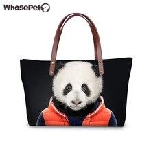 WHOSEPET Tote Handtaschen Luxus für Frauen 3D Tiere Kleidung Druck Handtasche Qualität Große Kapazität Mädchen Tote Umhängetaschen Mädchen