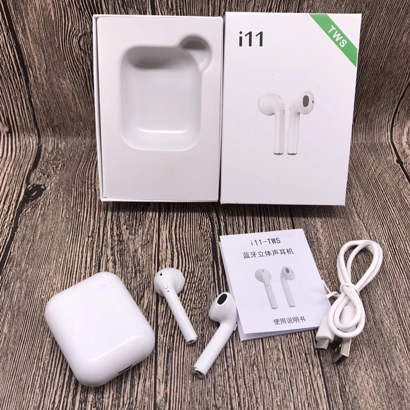 Mini I11 TWS Bluetooth 5 0 Headset Wireless Double Calls Smart Earphone Wireless Charging for IPhone