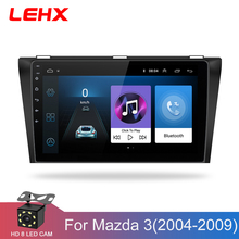 Car DVD GPS android 8.1 Car Radio Stereo 1G 16G Free MAP Quad Core 2 din Car Multimedia Player For Mazda 3 2004-2013 maxx axel(China)