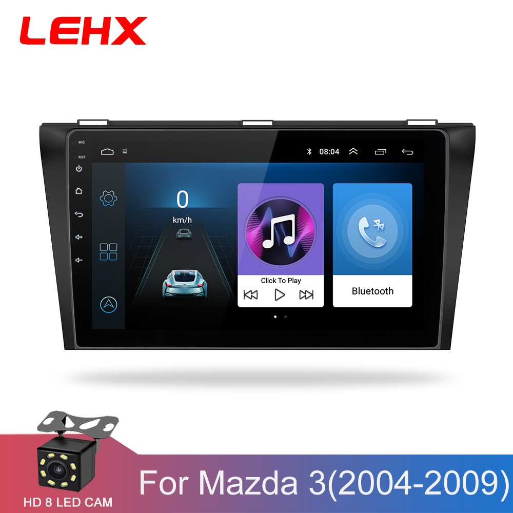 Voiture DVD GPS android 8.1 autoradio stéréo 1G 16G carte gratuite Quad Core 2 din voiture lecteur multimédia pour Mazda 3 2004-2013 maxx axel