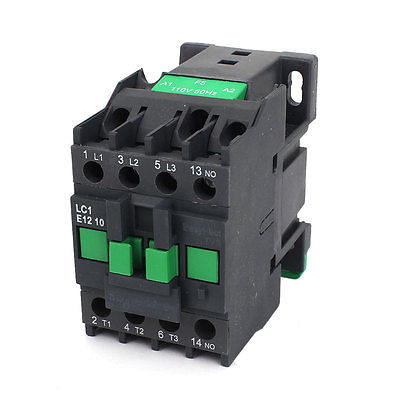 AC Contactor Motor Starter Relay 3-Phase Pole 1NO 110V Coil Voltage CJX2-1210 sayoon dc 12v contactor czwt150a contactor with switching phase small volume large load capacity long service life