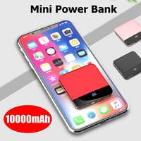Mini 10000mAh Phone Mobile Charger 5V 2.1A Quick Charing 3.0 For Iphone X,8,8 Plus for Xiaomi,Huaiwei 4 in 1 Interface LCD