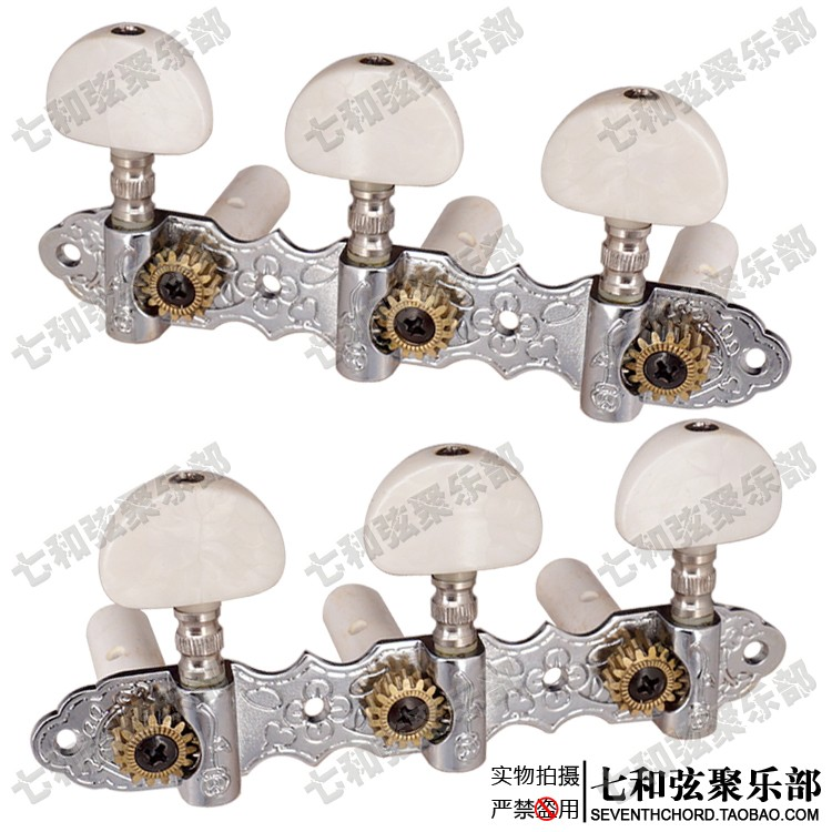 Classical guitar tuning peg three connections wood guitar string axle white pearl handle silvery body savarez classical alliance corum standard high tension set 024 042 classical guitar string 500arj