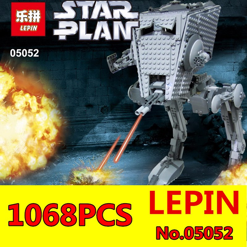 ФОТО Star Wars AT ST Building Blocks LEPIN 05052 1068pcs Out of print empire Bricks Model Toys Boys Gifts
