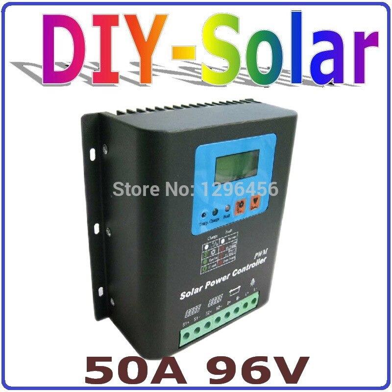 ЖК дисплей Дисплей 96 В Батарея Зарядное устройство 50A Контроллер заряда Регулятор 96 В для солнечной Мощность станции или дома Применение со