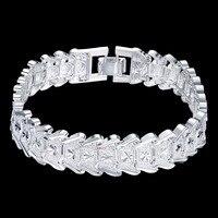 Men S Jewelry 925 Sterling Silver Big Wide Watch Chains 20cm Bracelets Bangles Bracciali Bileklik Male