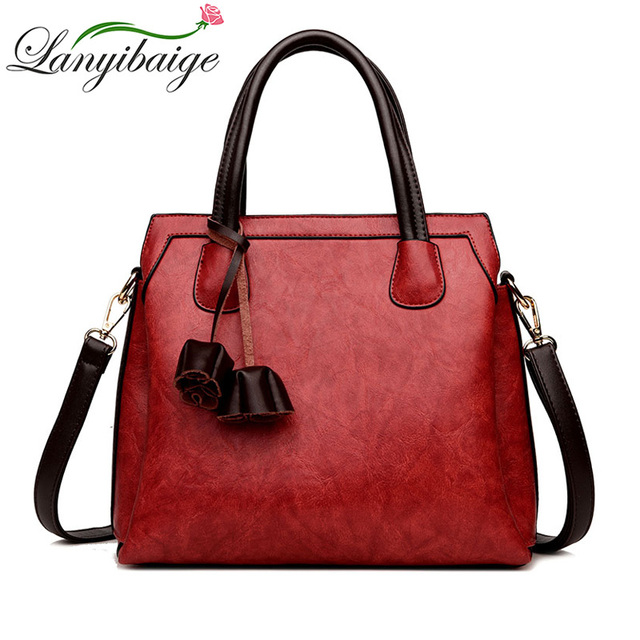 2a5b2ebb62e7 Leather Bags Handbags Women Famous Brands Big Casual Women Bags Solid Tote  Spanish Brand Shoulder Bag Ladies large Bolsos Mujer