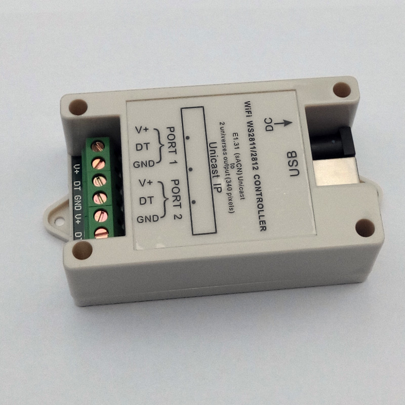 Petit contrôleur WiFi WS2811/WS2812 (DC5V-24V); jusqu'à 340 pixels (sortie 2 univers) - 2