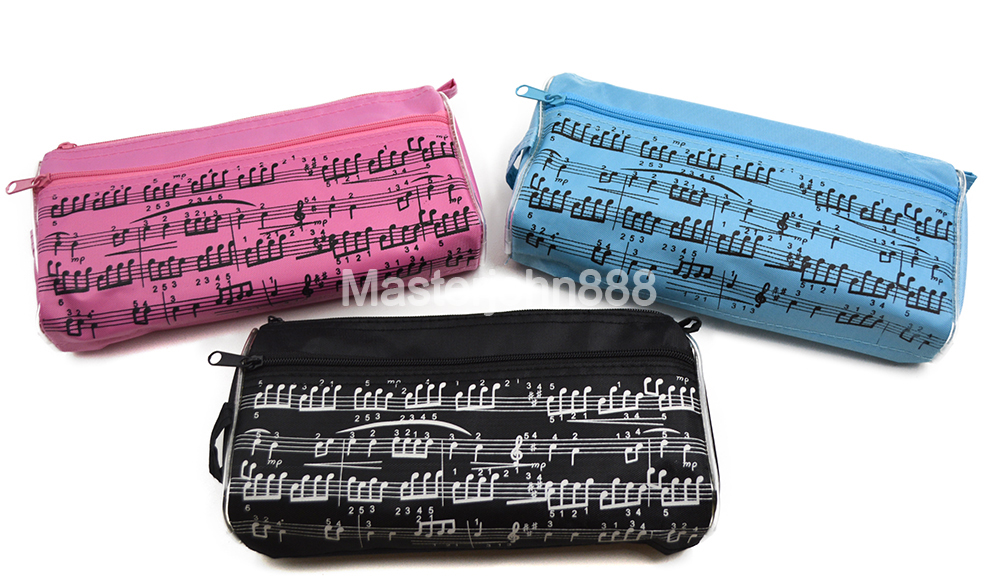 Music Topic Piano Movement Music Note Pencil Case Pen Oxford Bag For Student Music Staff Musician Song Writer Artist