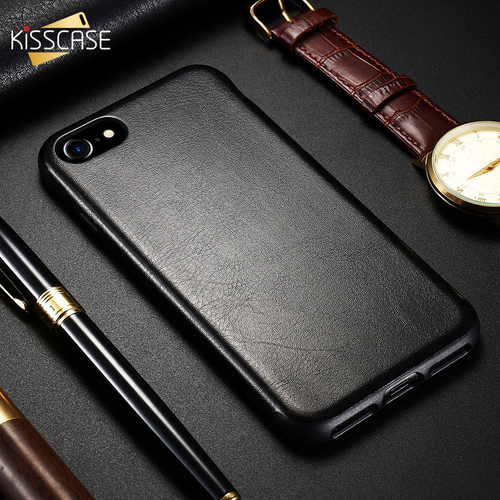 Galleria fotografica KISSCASE Luxury Leather Funda For iPhone X iPhone 6 6s Case PU Back Cover For iPhone X 6 6s 7 8 Plus Case Phone Bag Cover Coque