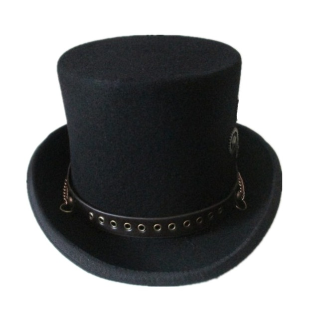 Cute Gear Wheels Decorated Wool Steampunk Fedora