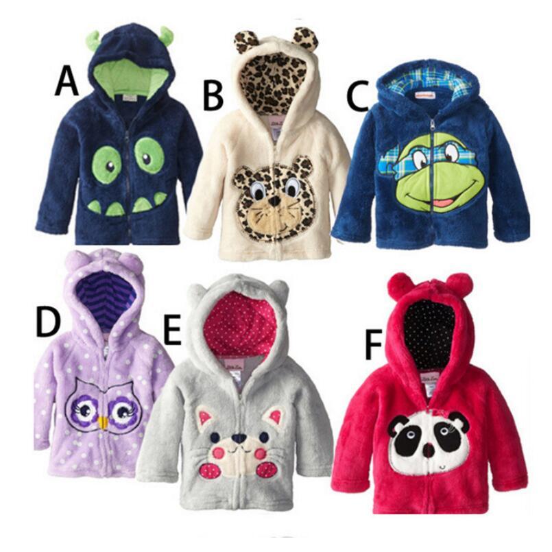 2016 Winter Kids Cartoon Coats Children Jackets font b Baby b font Boys Animal Long Sleeve