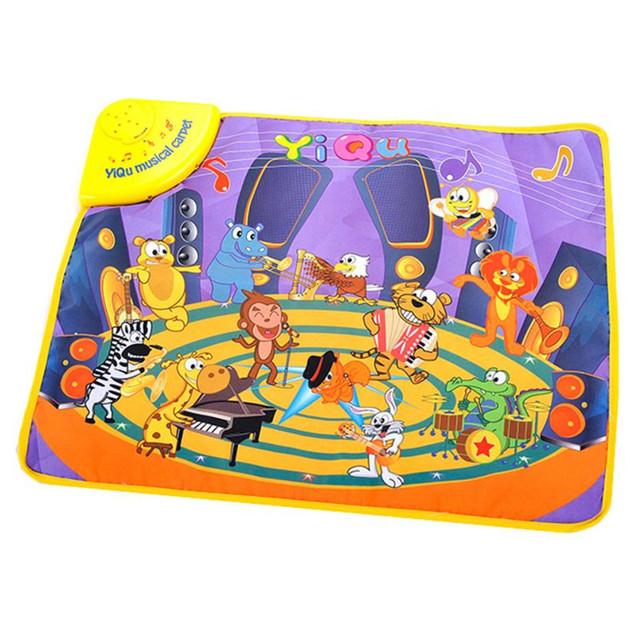 Crianças quentes Do Bebê Tapete Musical Toque em Reproduzir Cantando Animal Do Jardim Zoológico Mat brinquedos do bebê tapete infantil bebek oyuncak Brinquedo esteira do jogo 2-17 #4