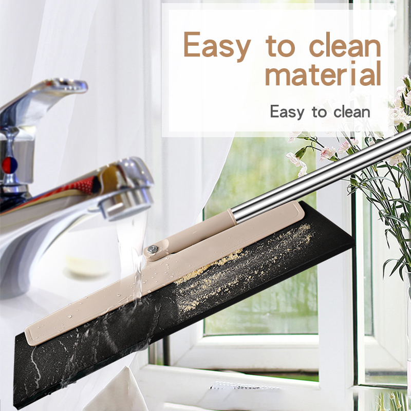 Image 4 - Bathroom special handle Rubber Mop Clean Dust Hair Bathroom Glass  Wiper Blade Cleaning Sweeper Multifunctional Kitchen Tools-in Brooms & Dustpans from Home & Garden