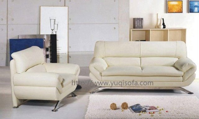 High Quality Small Size Sofa Leather Sofa Set 1 +2 +3