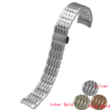 20mm Watchband Stainless Steel Curved End Brushed Watch Belt Bracelet For O-m-e-g-a Free Shipping
