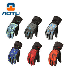 NEW 2019 Outdoor winter thick Camping Mountain ski gloves waterproof thermal arm fleece cycling slippery snow man woman outside
