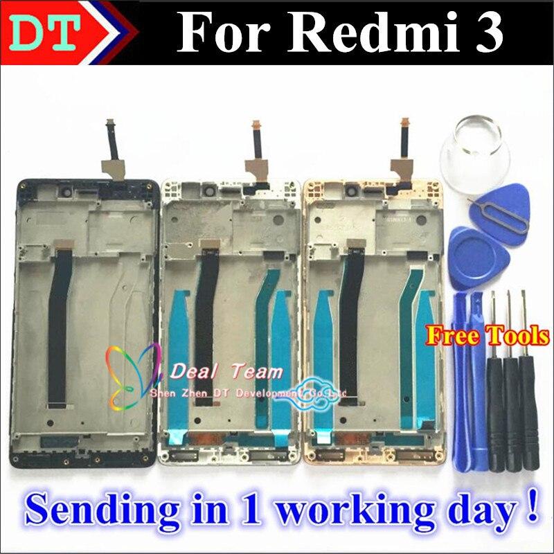 "imágenes para Pantalla LCD + Asamblea de Pantalla Táctil Digitalizador de alta Calidad Para Xiaomi Redrice Redmi 3 Hongmi3 Redmi3 3 Teléfono Móvil 5.0 ""con Marco"