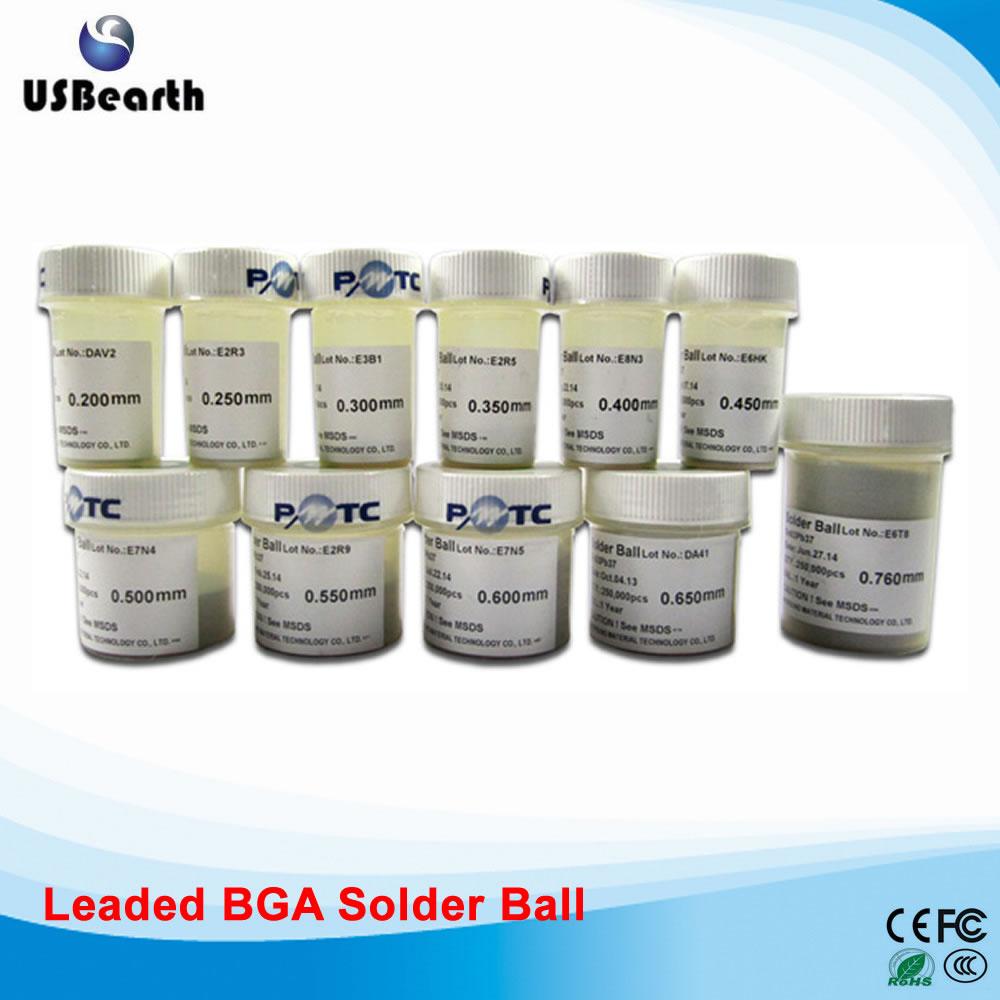PMTC Leaded BGA solder balls Tin balls 0.2-0.76mm 11pcs set for BGA reballing rework pmtc 250k 0 76mm lead free leaed free solder balls for bga chip reballing