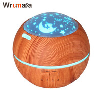 Wrumava 150ml Wood Grain LED Night Light Air Aroma Humidifier 3 Pattern color Desk light for Baby Office Home Bedroom Yoga Spa