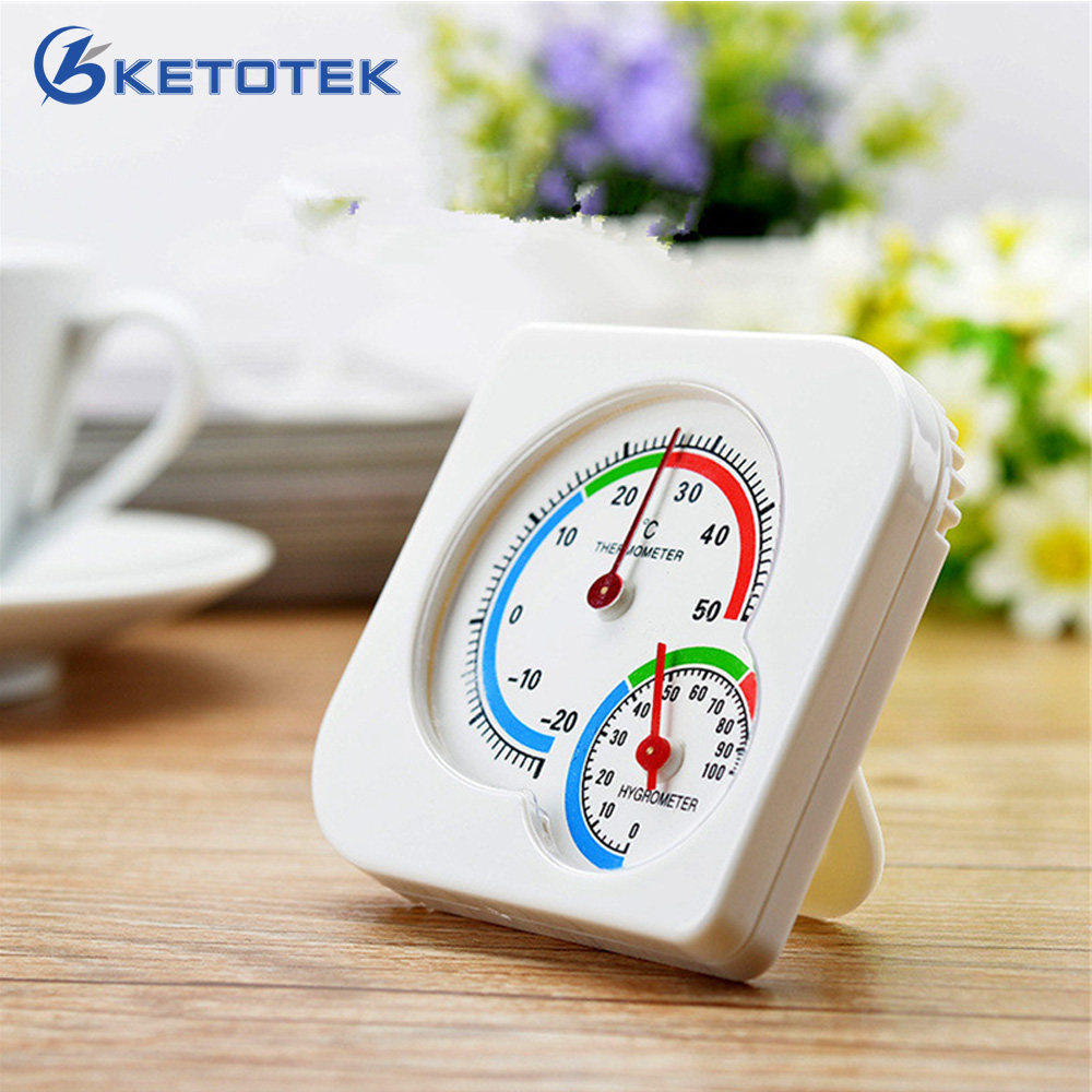 Mechanical Analog Thermometer Hygrometer -20~50C 0~100%RH Temperature Humidity Meter For Indoor Outdoor