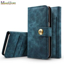 hot deal buy makeulike  case for iphone 7 8 plus cover pu leather magnetic wallet case for iphone 7 plus 8 plus flip phone bag case