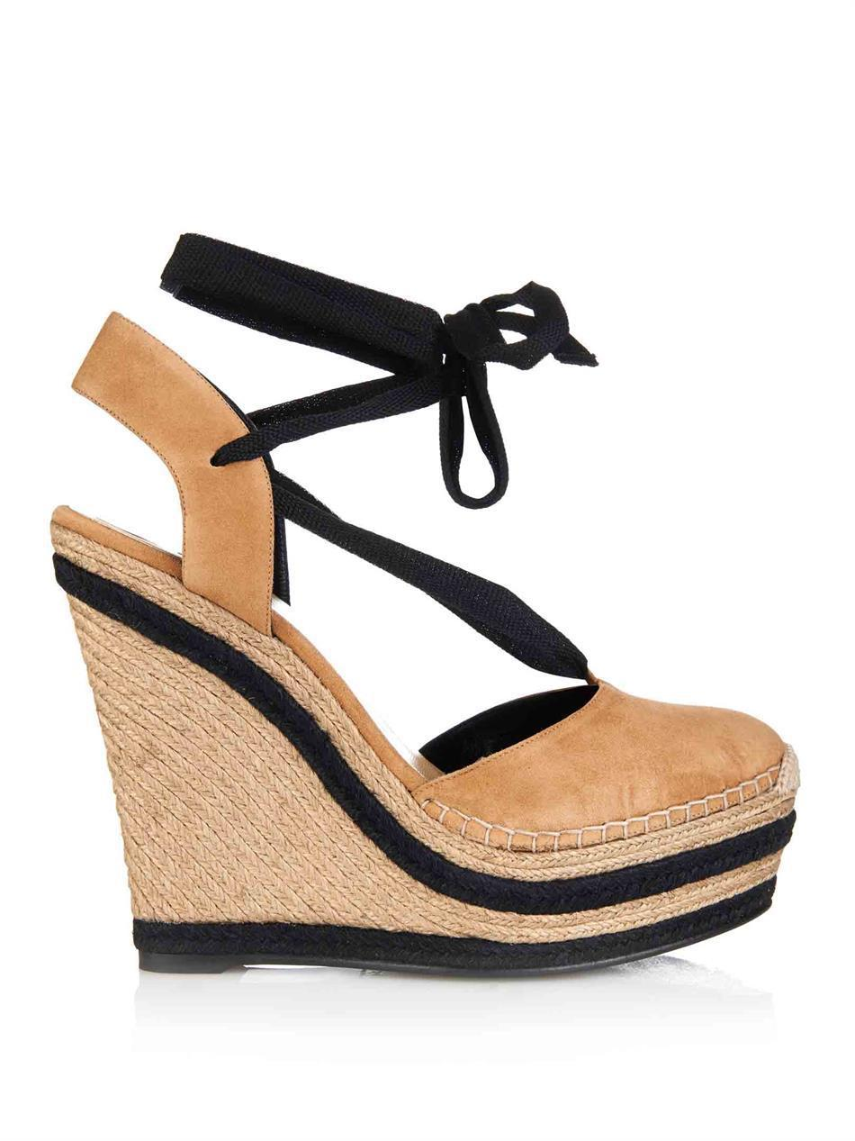 c115d340bca Luxury Stripe lace up espadrille wedge sandal women genuine leather high  heel platform sandals plus size-in Women s Sandals from Shoes on  Aliexpress.com ...