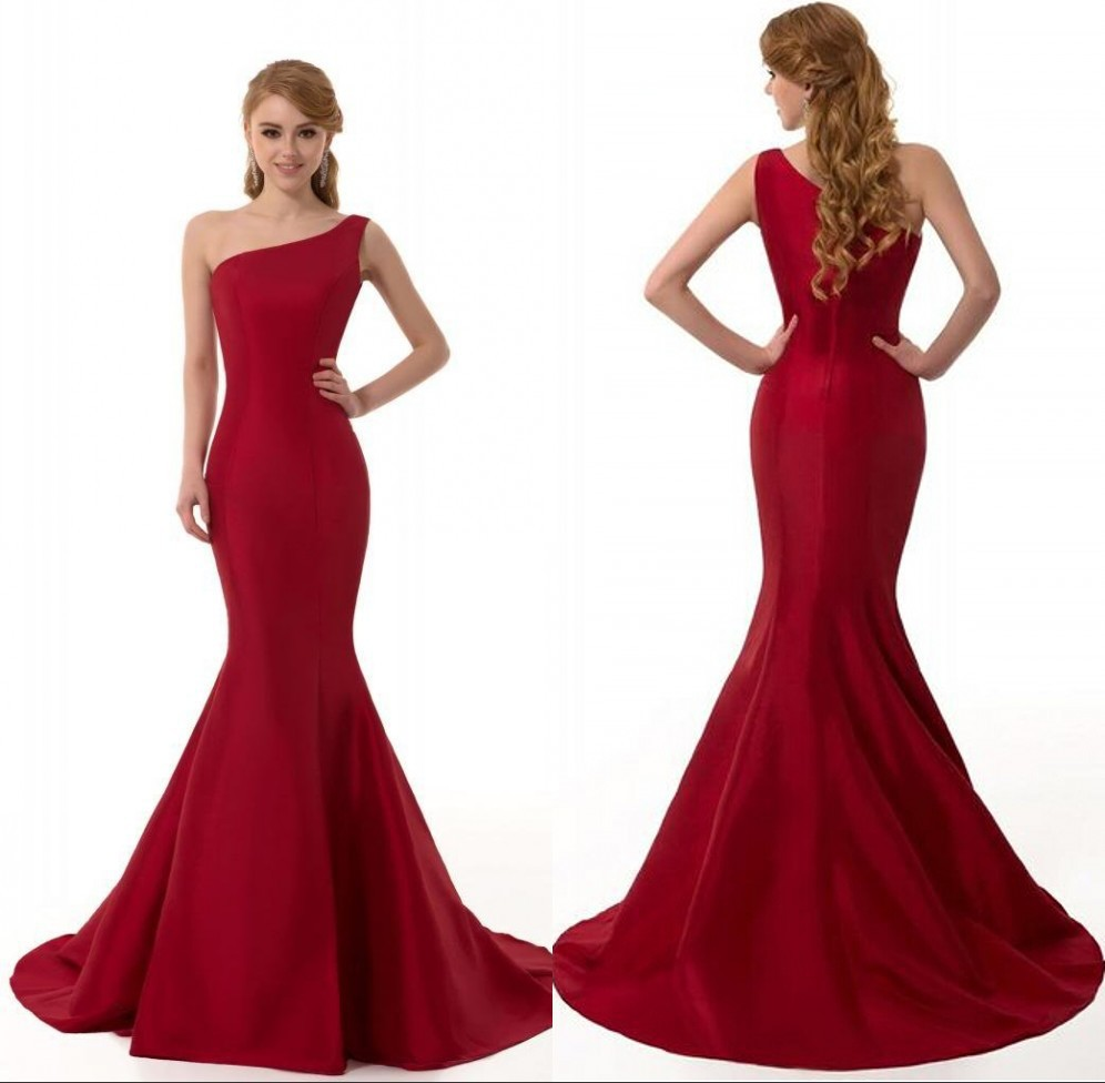 Popular Red Taffeta Mermaid Prom Dress-Buy Cheap Red Taffeta ...