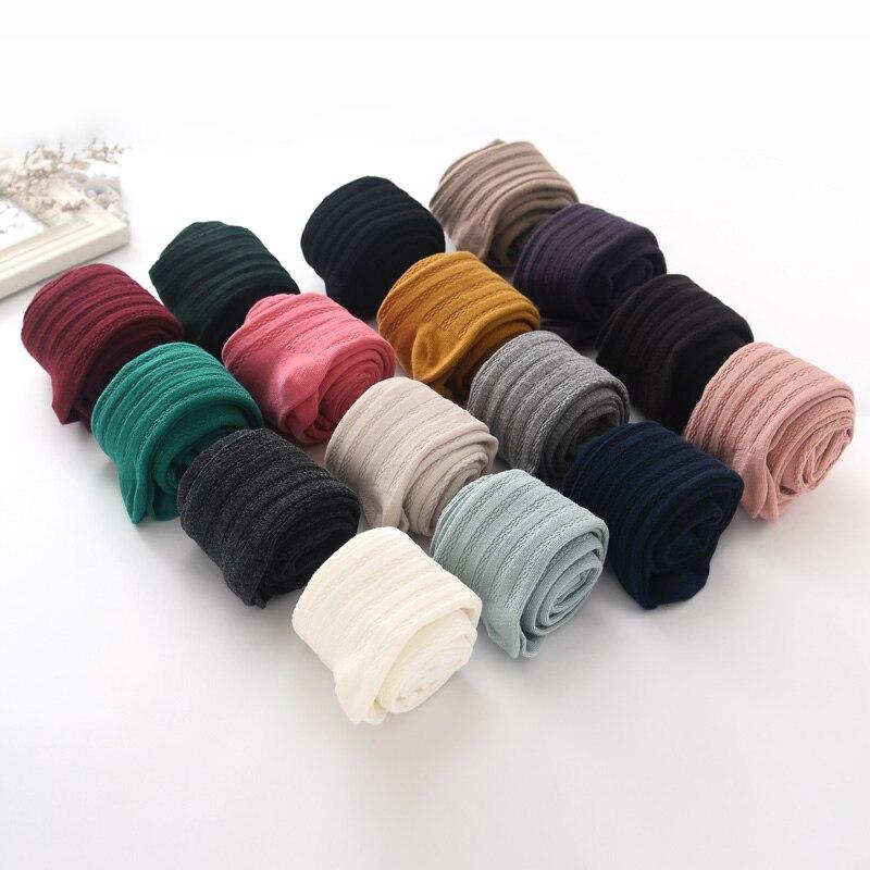 13 Colori Cotone 2-9 anni Girs Bambini della neonata collant primavera e autunno Solido di colore Puro ragazza collant