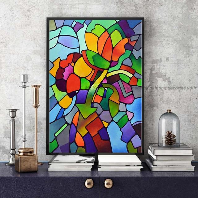 Célèbre artiste moderne image abstraite acrylique peinture