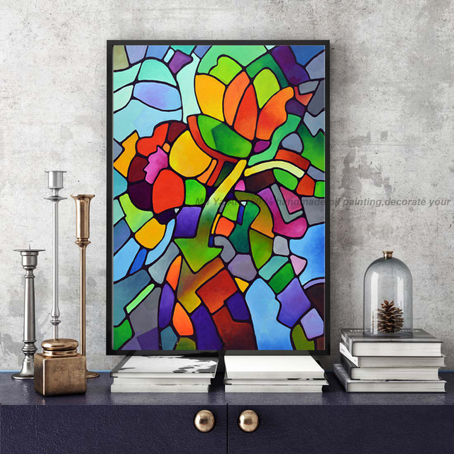 Famous artist modern picture abstract acrylic painting