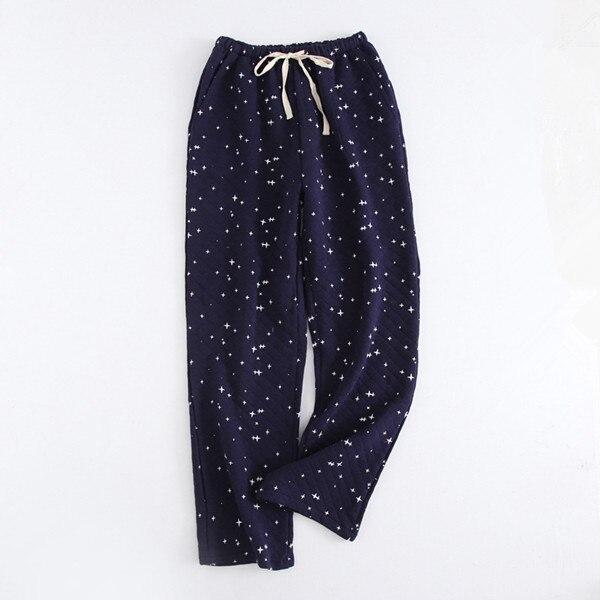 Хлопок Пижамы Мужчины Спят Днища 2020 Весна Осень Новый Пижама Панталон Спать Брюки Хомбре Пижамы Мужские Пижамы Q1350