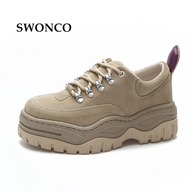 SWONCO Women s Sneakers Platform Shoes 2018 Spring Autumn Casual Ugly Shoe  Sneakers Women Platform Shoes Non-slip Woman Shoe 385d5c2313d9
