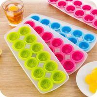 Silicone ice cube sáng tạo lemon khuôn hình dạng băng kẹo màu 12 lưới Ice Cube Tray Dày & Đáy Mềm Cụ Nấu Ăn trong Ice Maker