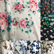 50x150cm High-grade bamboo style viscose cloth soft floral breathable fabric cloth DIY Clothes Summer Shirt,Soft 200g/m цены