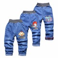 2017 New arrival spring summer kids clothes boys jeans pants boy denim pant elastic waist trousers for children 2-5 years