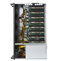 For 8 AMD RX580 Extensible 240Mhash/s ETH Mining Machine Coin Mining Miner With 1800W Power Supply