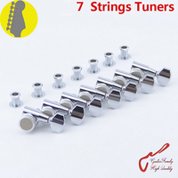 Genuine Original 7 In line GOTOH SG381 07 MGT 7 Strings Guitar Locking Machine Heads Tuners ( Chrome ) MADE IN JAPAN