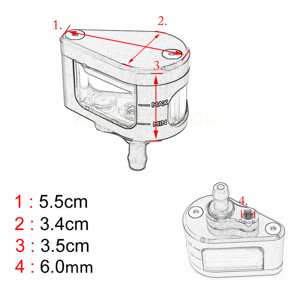 Buy Universal Motorcycle Brake Fluid Reservoir Ninja 650r Engine Diagram Clutch Tank Oil Cup For Kawasaki Er 6f 6n 250 300 Z250 Z300 From