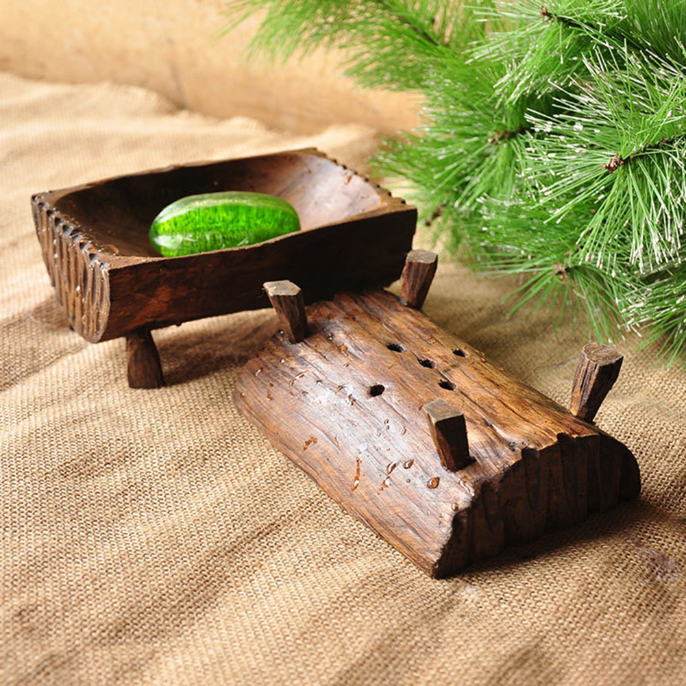 Creative Handmade Natural Wooden Soap Dish Tray Holder Storage Rack Wood Soap Box For Bath Shower Bathroom Home Hotel