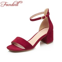 FACNDINLL Classic Sandals Summer Fashion Ankle Buckle Gladiator Sandals High Heels Sexy Open Toe Dress Party