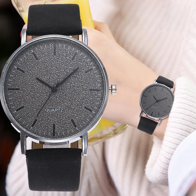 Vansvar Fashion Women Leather Casual Watch Luxury Analog Quartz Starry Wristwatc