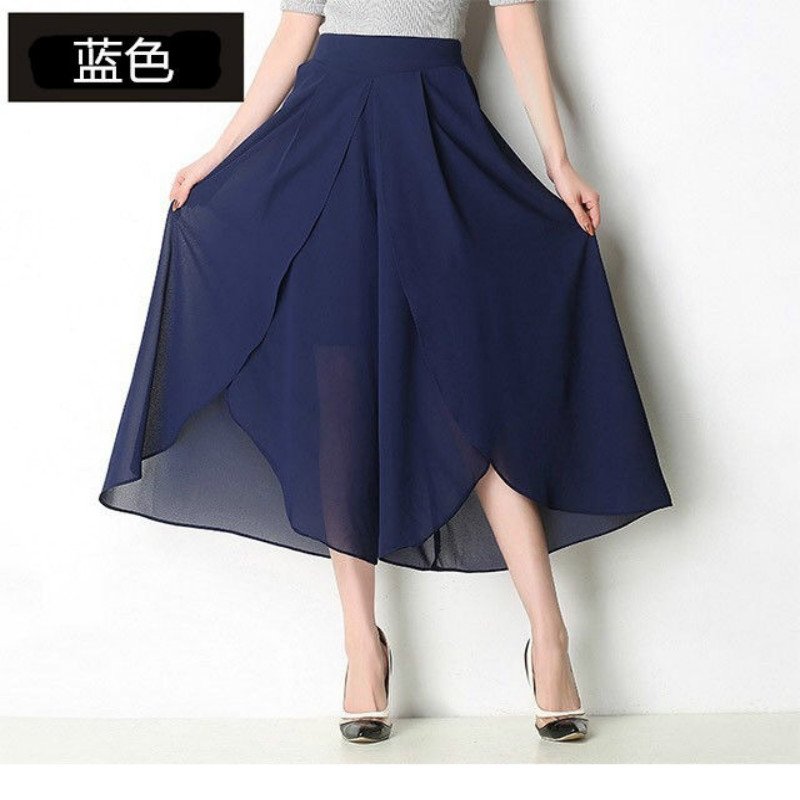 Summer Pants Women Loose Women Pants Ankle Length High Waist/Chiffon Skirt/wide Leg Pants Women Plus Size Trousers 5XL Trousers