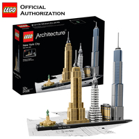 Lego Architecture Series Building Blocks Toys Beautiful Urban landmark Building Toys Brinquedos 598pcs Stacking Blocks For Trave