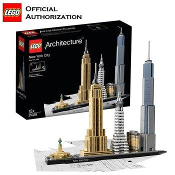 Lego Architecture Series Building Blocks Toys Beautiful Urban landmark Building Toys Brinquedos 598pcs Stacking Blocks For Trave 21035 lego