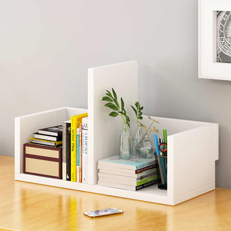 Wooden Combination Bookshelf Creative Desktop Bookcase Simple Modern Desktop Storage Rack Home Furniture